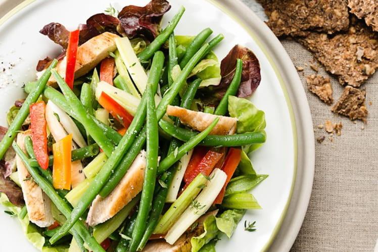 Salade de volaille et haricots verts