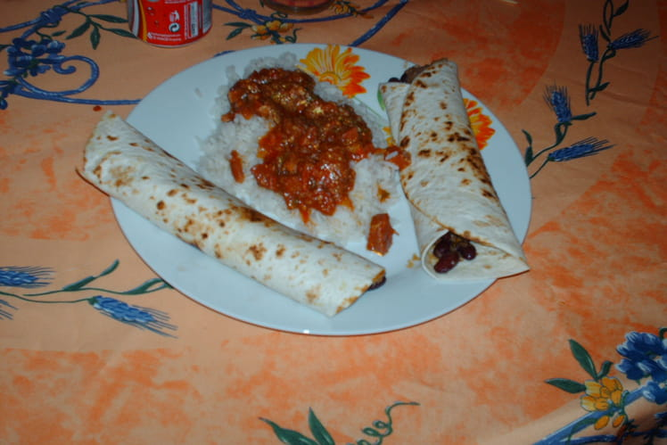 Burritos mexicain au Tabasco