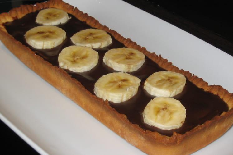 Tarte choco-bananes toute simple