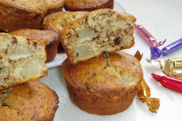 Muffins aux poires et au chocolat
