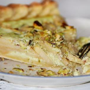 tarte pommes-pistaches