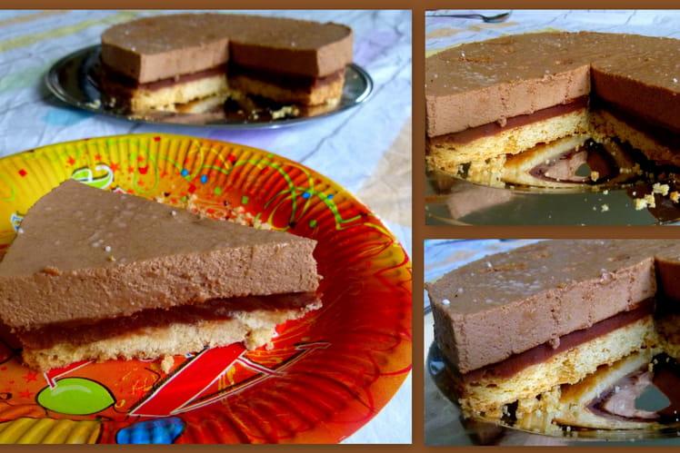 Gâteau chocolat caramel façon millionnaire shortbread