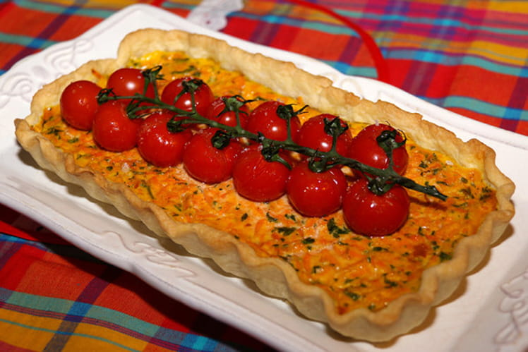 Tarte aux carottes, persil et cumin