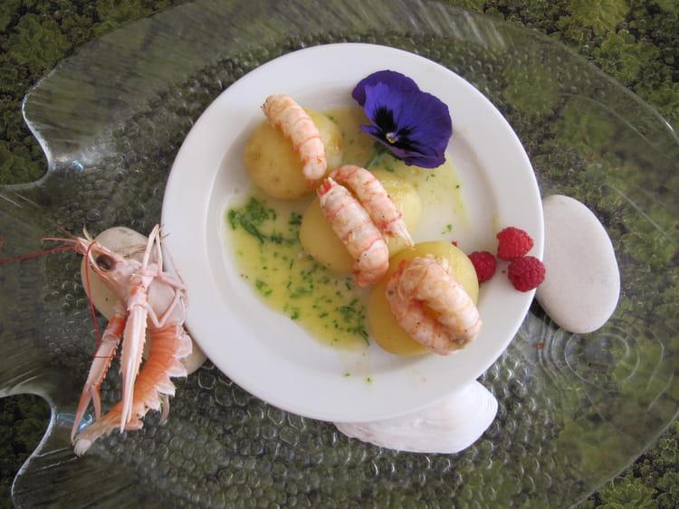 Langoustines au curry sur pomme de terre princesse amandine - La pomme de terre est elle un legume ...