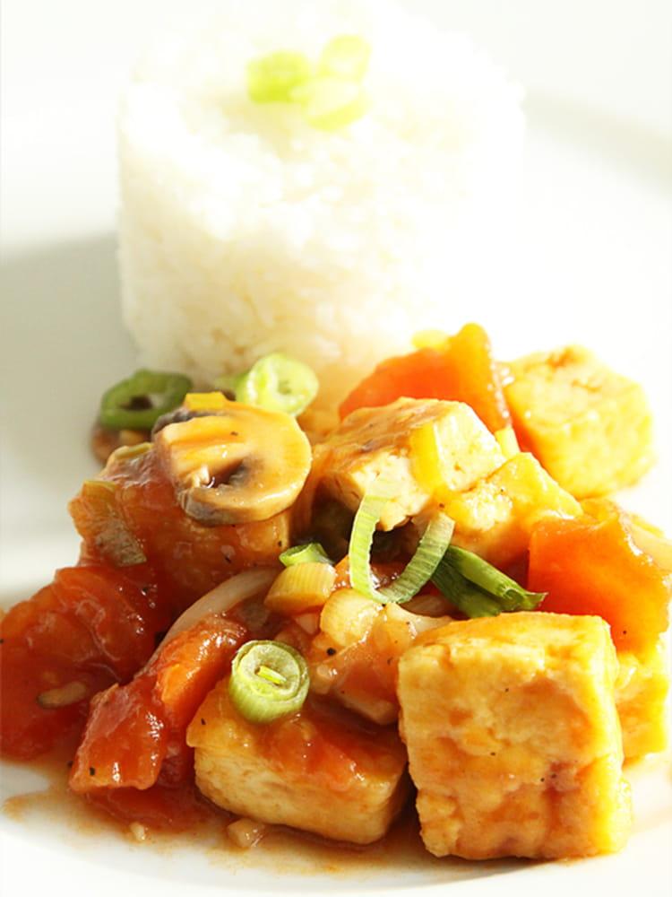 recette de tofu sauté à la tomate : la recette facile