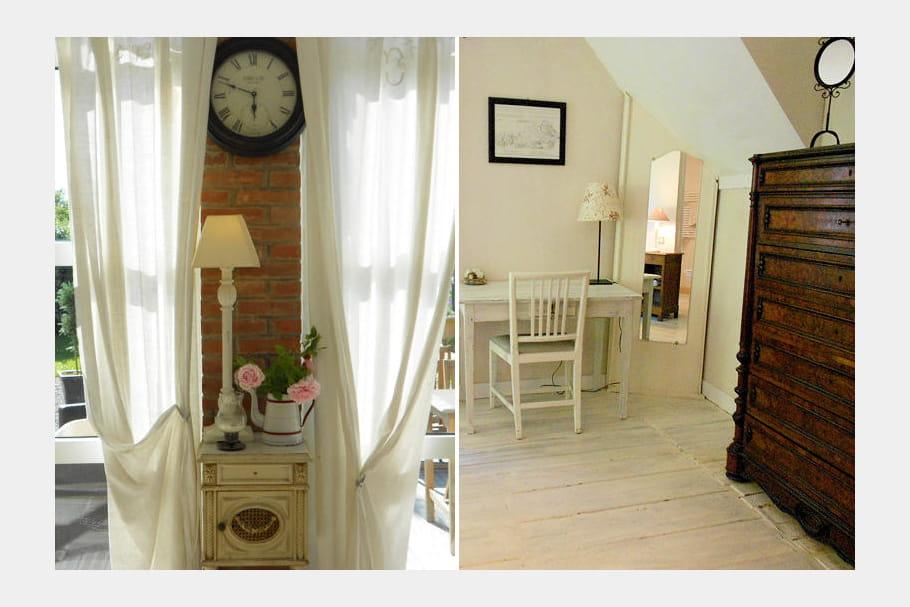 des meubles anciens une maison campagne chic au mont saint michel journal des femmes. Black Bedroom Furniture Sets. Home Design Ideas