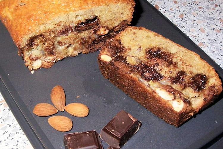Cake banane, amande et chocolat