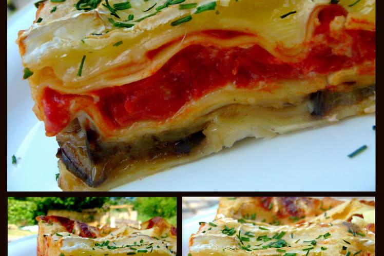 recette de lasagnes aux aubergines et brie de meaux la recette facile. Black Bedroom Furniture Sets. Home Design Ideas