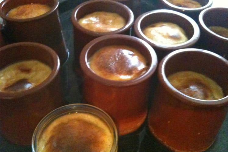Crèmes renversées au caramel individuelles