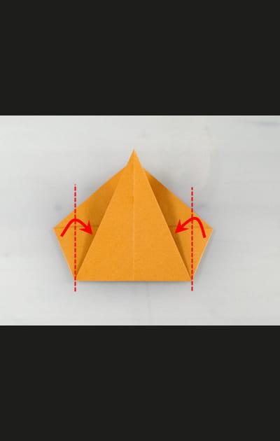 Origami chat - Etape 3