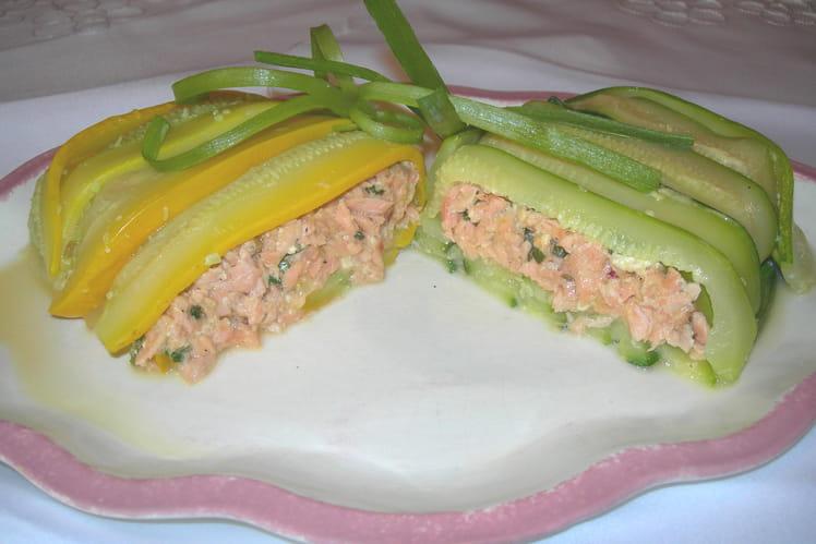 Petits paquets de zucchinis au saumon