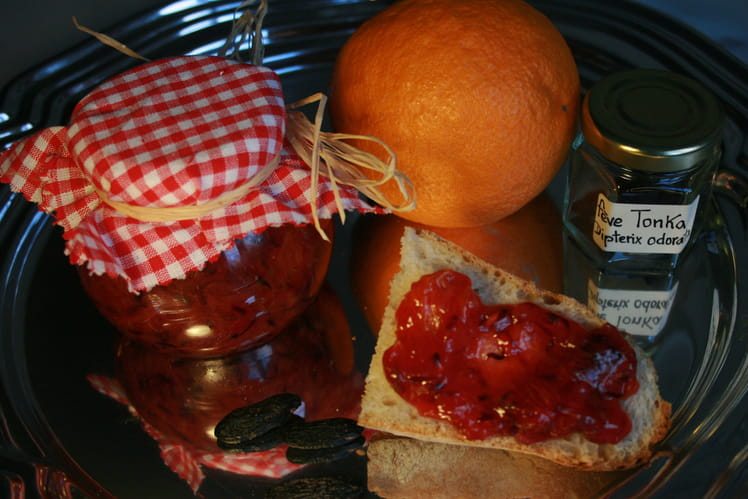Confiture bio orange sanguine et fève tonka