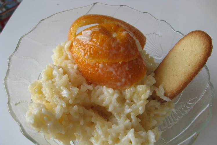Riz au lait au zeste d'orange
