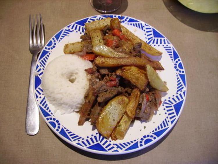 Recette de boeuf saut la p ruvienne lomo saltado la - La cuisine peruvienne ...