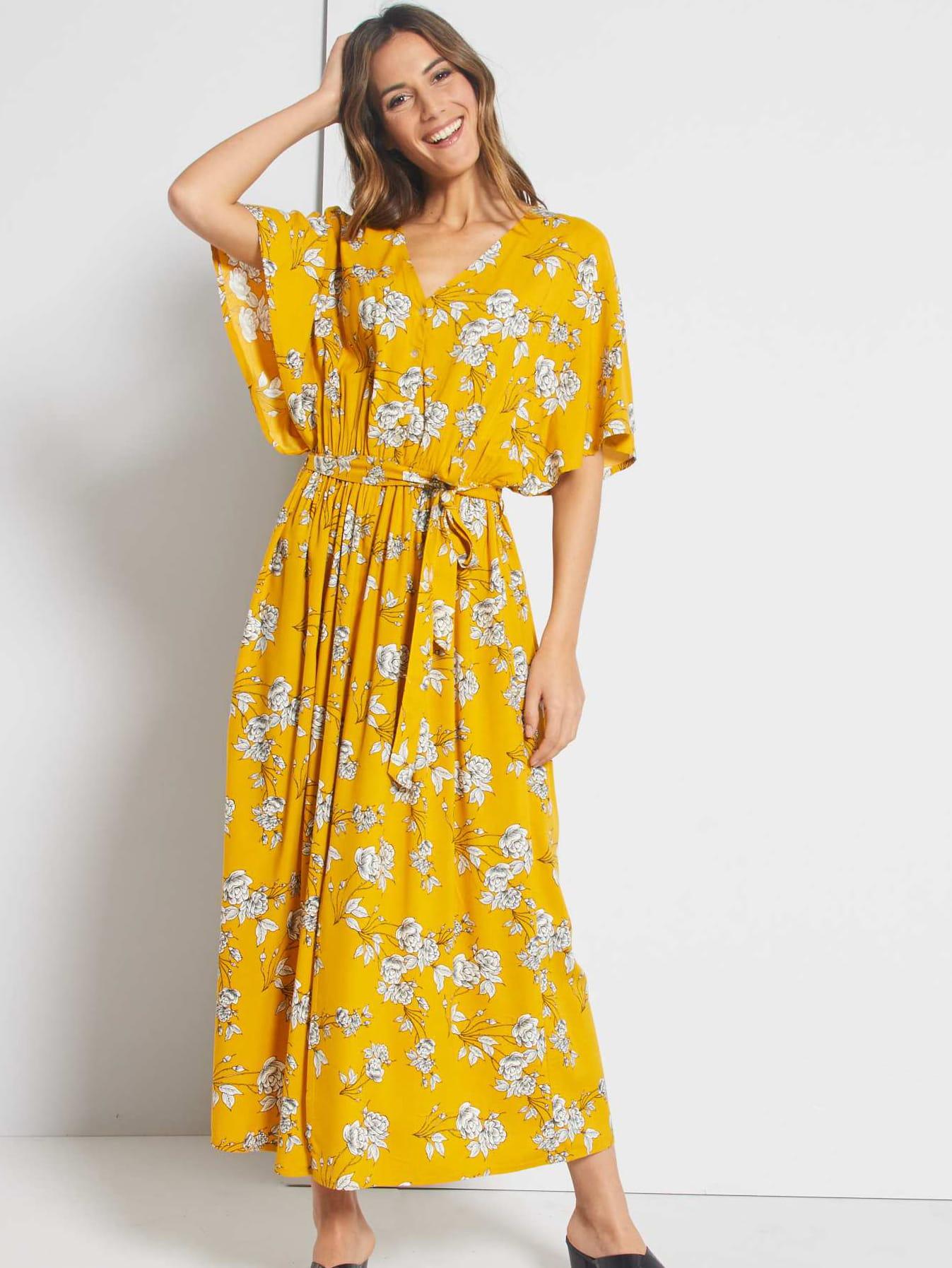 Robe Longue Fleurie De Kiabi