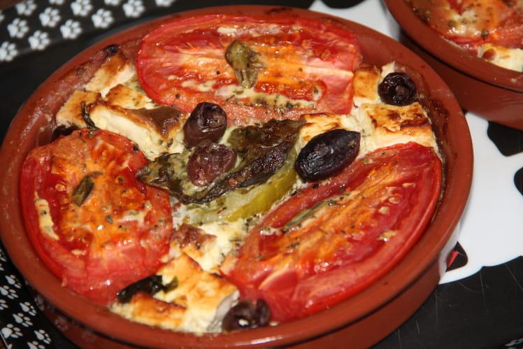 Petits gratins de tomates et feta à la grecque
