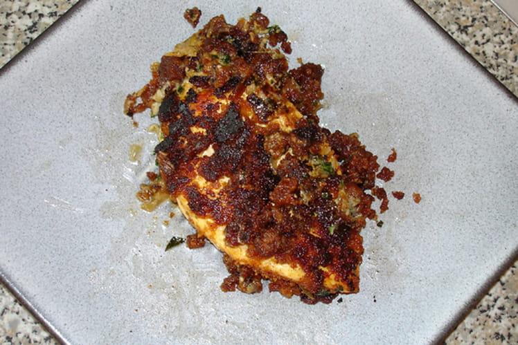 Suprême de poulet au pain d'épice et au roquefort