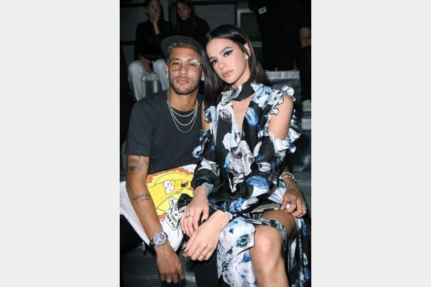 Neymar Jr et Bruna Marquezine au défilé Off-white