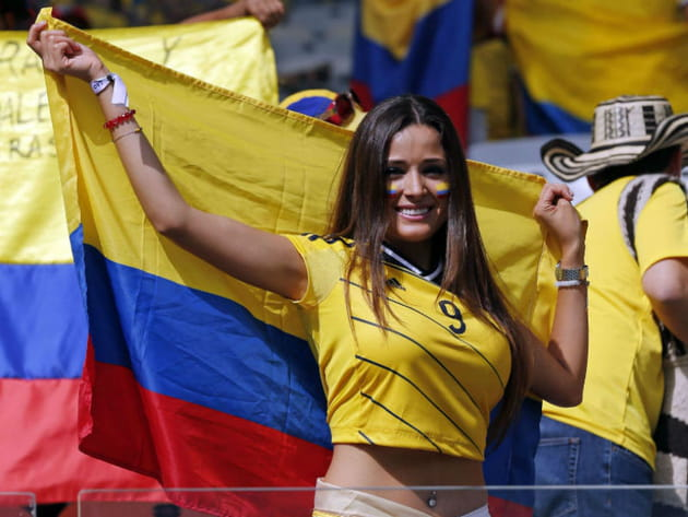 Supportrices sexy Coupe du monde 2014 Colombie