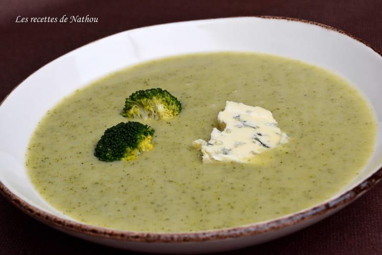 Soupe aux brocolis et au bleu d'Auvergne