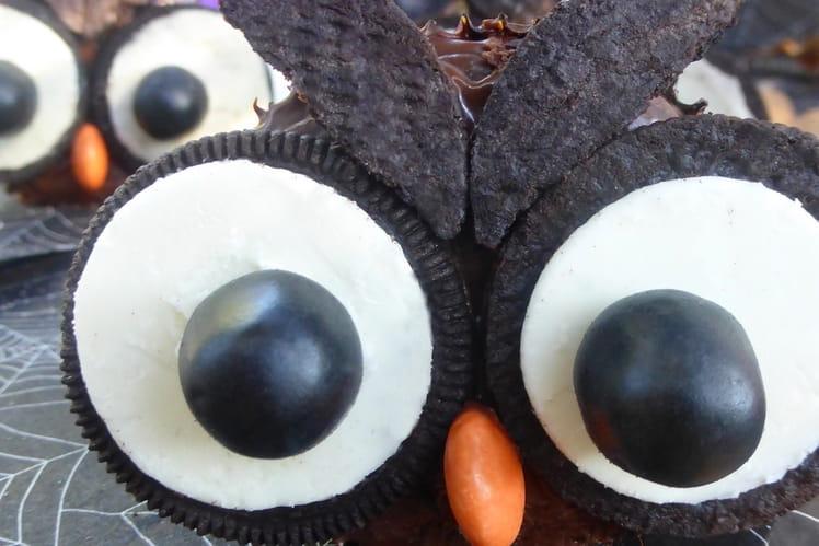 Cupcakes hiboux (Halloween)