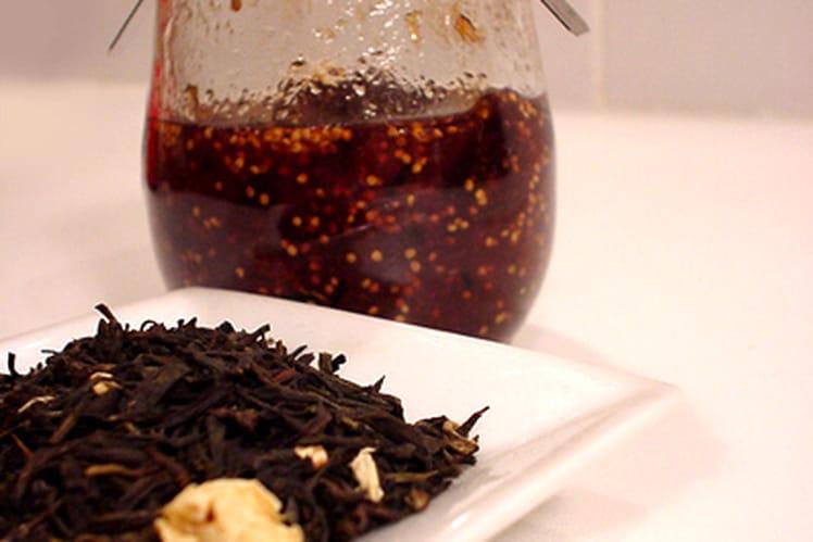 Confiture de figues au thé