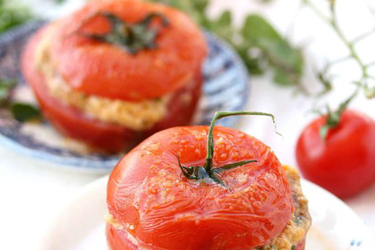 Tomates farcies persillade, mozzarella et jambon blanc