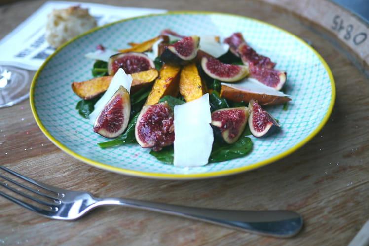 Salade de papates douces, figues et Ossau-Iraty