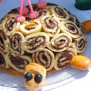 gâteau roulé en tortue