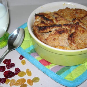 english bread & butter pudding aux abricots secs