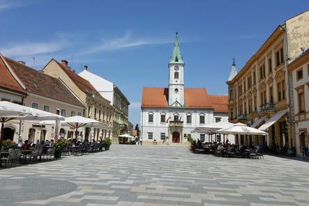 Le square du Roi Tomislav à Varaždin