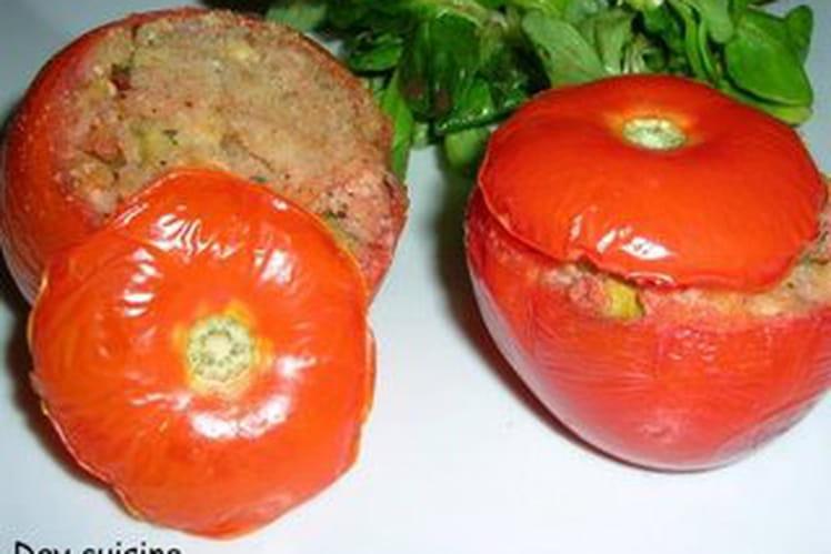 Tomates farcies au jambon et à la courgette
