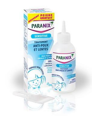 paranix sensitive traitement anti poux et lentes, 150 ml, 10 à 15 euros. dès 6