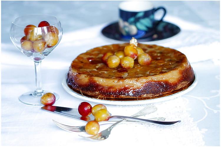 Gâteau aux mirabelles amandes et fromage blanc