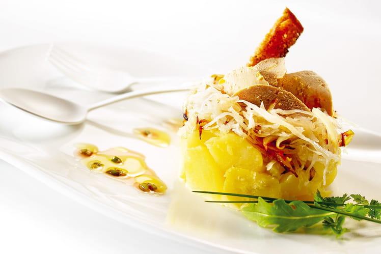 Foie gras à l'alsacienne