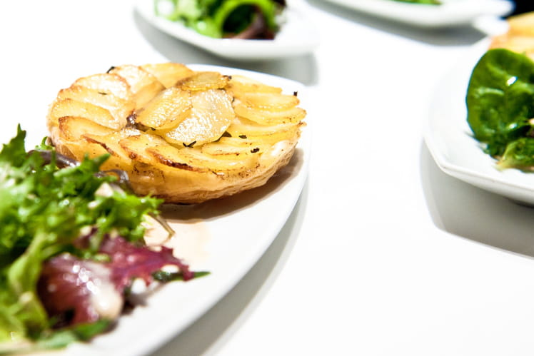 Truffes feuilletées et pomme Anna
