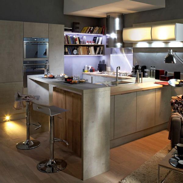 La modernit du b ton - Leroy merlin cuisines ...