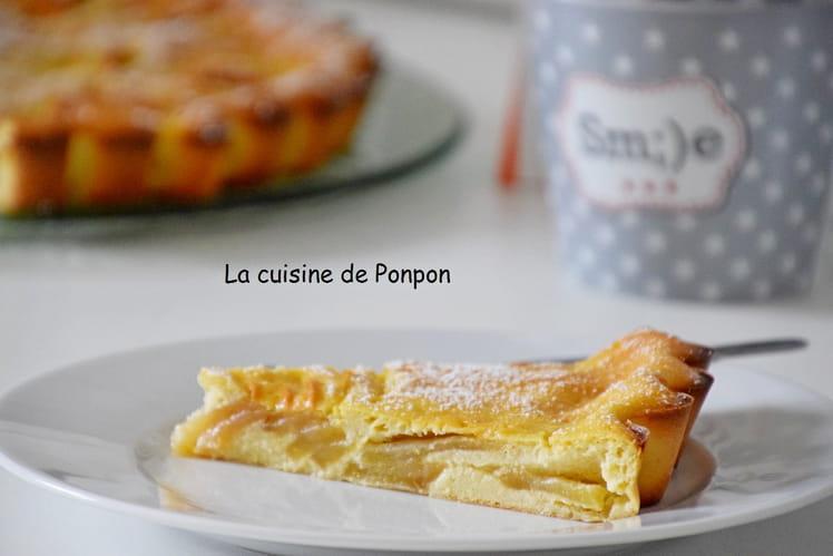 Flamusse aux pommes et ricotta, sans beurre
