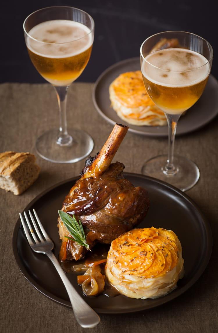 recette de souris d agneau brais 233 e au cidre et confite aux 233 pices et tian de pommes de terre et