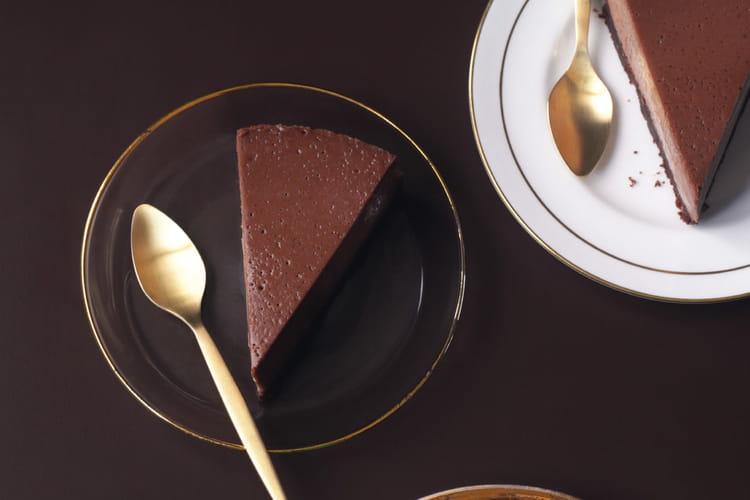 Cheesecake au chocolat noir