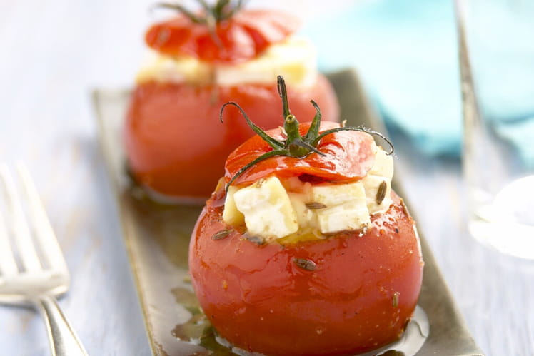 Tomate rôtie au cumin farcie au Pavé d'Affinois Original