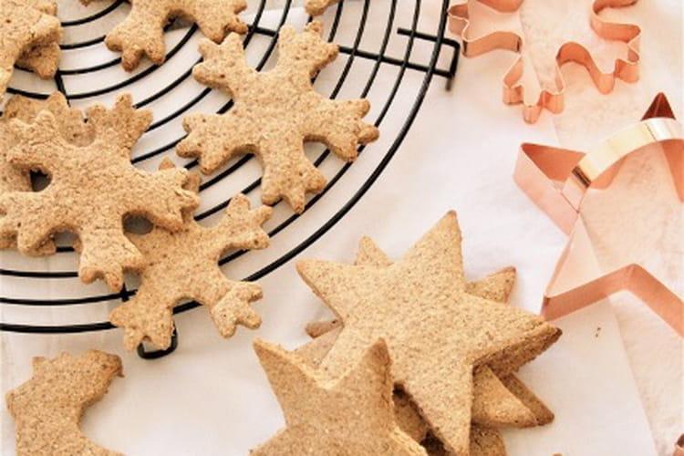 Spéculoos aux épices de Noël bio, sans gluten, sans oeufs et sans lait