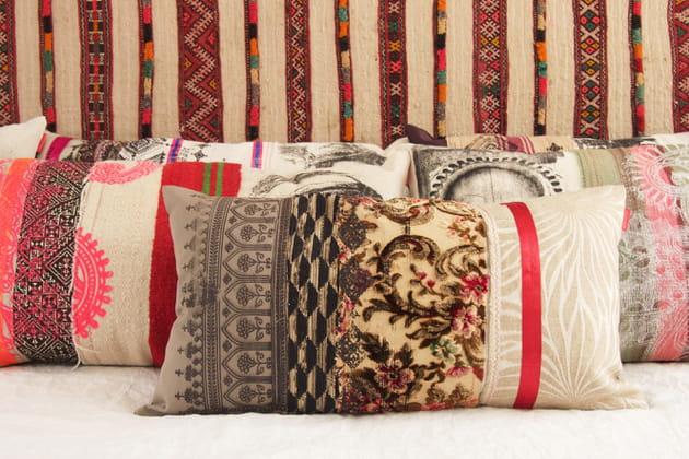 Coussins patchwork par Sissimorocco