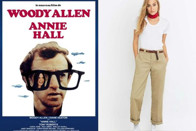 """Un pantalon d'homme façon Annie Hall dans """"Annie Hall"""""""