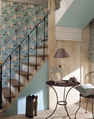 papier peint fleurs de heytens. Black Bedroom Furniture Sets. Home Design Ideas