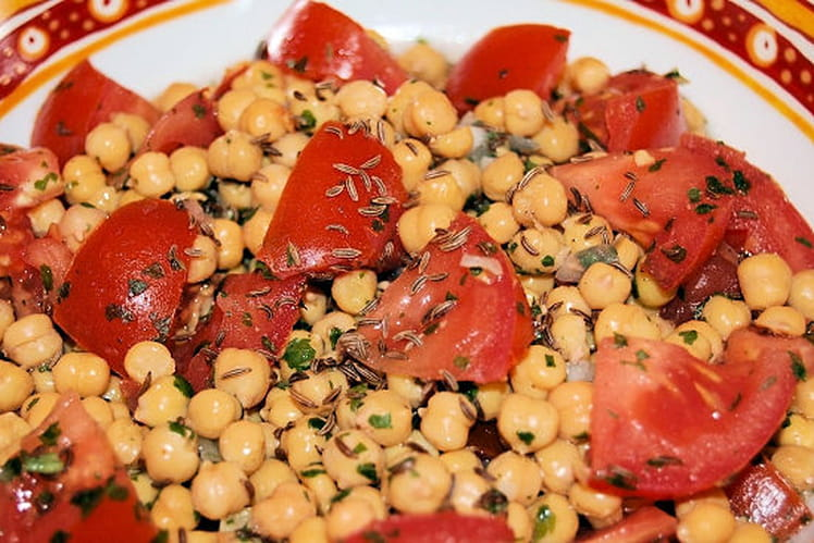 Recette de salade de pois chiches l 39 orientale la - Cuisiner des pois chiches ...