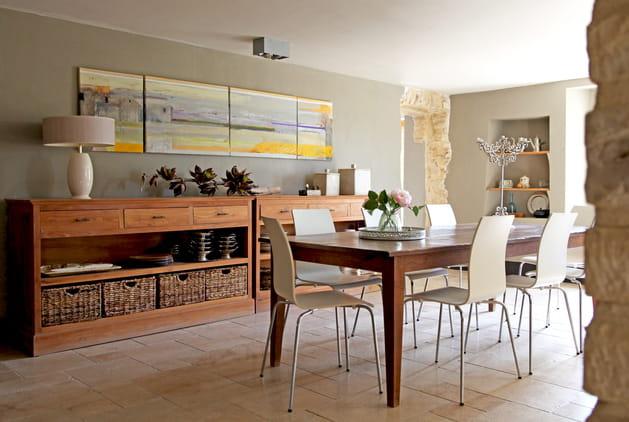 Grande table en bois