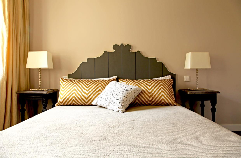 une t te de lit rustique chic. Black Bedroom Furniture Sets. Home Design Ideas