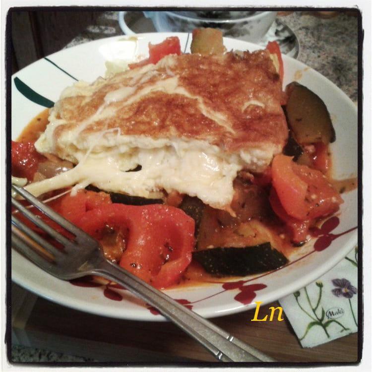 Recette omelette au fromage la ratatouille la recette - Cuisiner la ratatouille ...