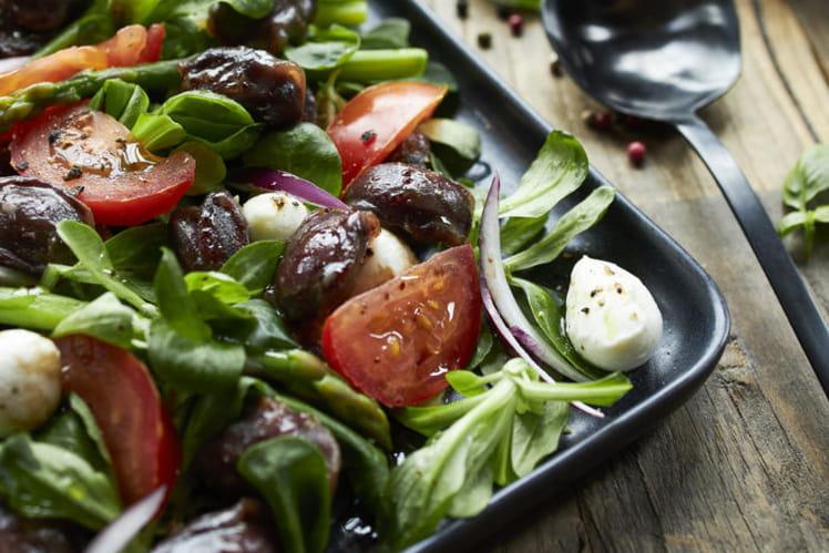Salade fraîcheur aux gésiers de canard confits